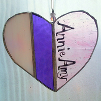 Special Personalised Glass Hearts