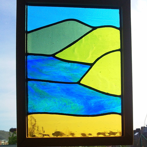 Sunny Bay, Stained Glass Panel