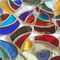 small stained glass heart