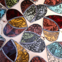 Painted Lace Stained Glass Heart