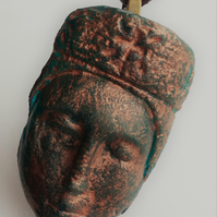 Sleeping Madonna - Recycled Cast Glass Pendant