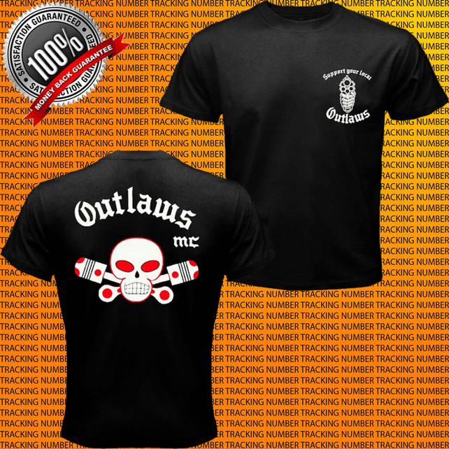 Support your local outlaws mc t shirt custom g folksy for Local custom t shirts