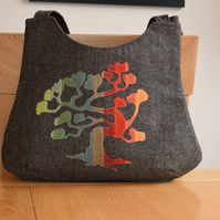 Autumn in the Woods - Applique Handbag