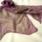 'Dusky'  Silk  Scarf in dark pink georgette