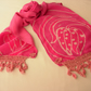 'Hot' Pink Silk Scarf hand dyed and crafted georgette