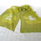 'Lime'  Silk Scarf batik design in Green Georgette