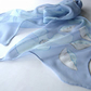 'Sky'  Silk  Scarf in blue georgette