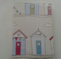 Beach hut notebook cover