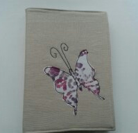 Appliqued butterfly A5 diary,notebook cover