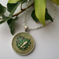 'For the love of Frogs' Resin necklace with frog on a lily pad.
