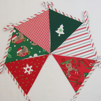 SALE Christmas Robin and Deer Bunting