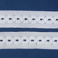 2.5 metres white stretch lace