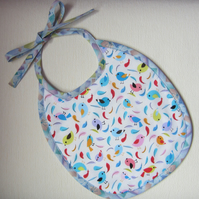 Birds and feathers bib