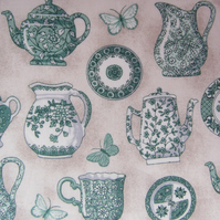 Teapot, jug, cup and plate FQ