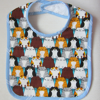 SALE Babies Cat Bib with Velcro Fastening
