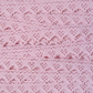 2 Metres of Vintage Pink Crocheted Edging