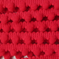 2 Metres Red Bobble Pom Pom Trim