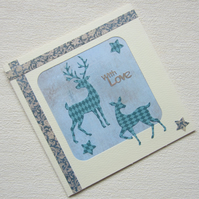 Stag and Deer With Love Greetings Card