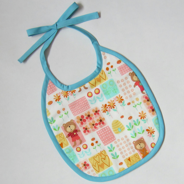 SALE Bear and Bee Babies Bib