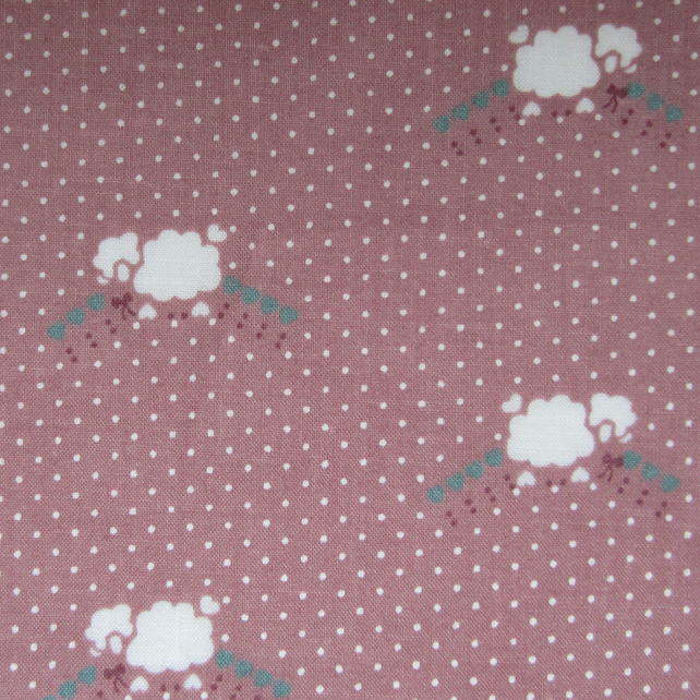 Sheep on Dusky Pink Spotty Fat Quarter