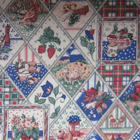 Farmyard Patchwork Fat Quarter