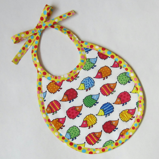 First Size Hedgehog Babies Bib