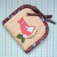 Fox and Leaves Needle Case