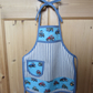 Child's Blue Tractor Apron