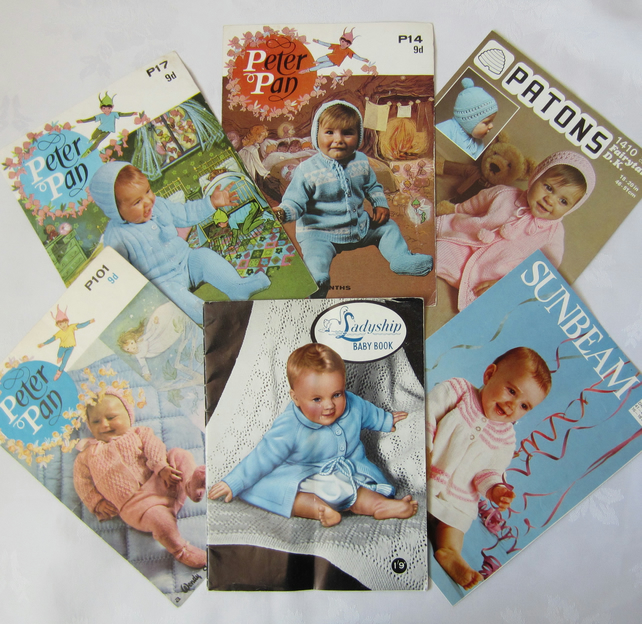 6 Vintage Knitting Patterns for Babies