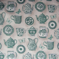 1 Metre Teapot, Jug, Cup and Plate Fabric