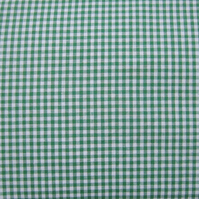 SALE 1 Metre Green Gingham Check Fabric