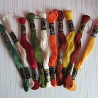 SALE 10 Skeins of Anchor Embroidery Thread