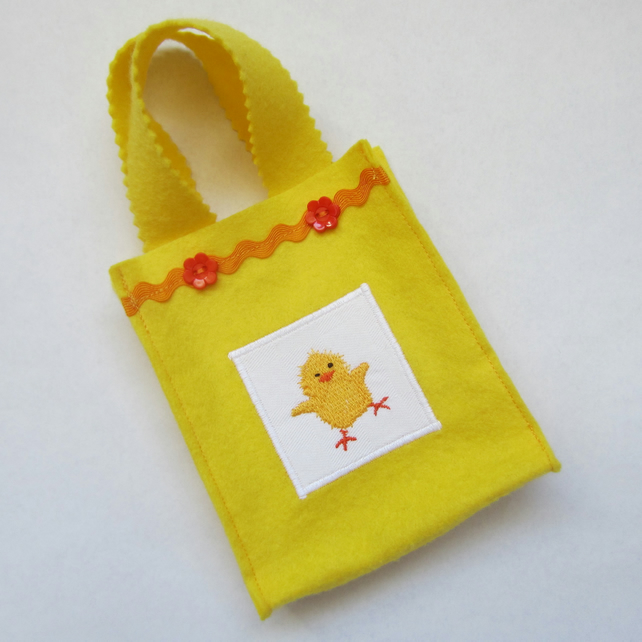 Easter Chick Felt Bag