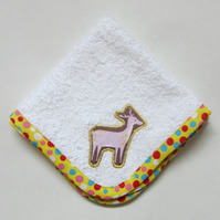Woodland Animals Stag Face Cloth, Make up Remover, Baby Dribble Cloth.