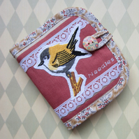 Embroidered Bird Needle Case
