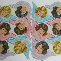 Vintage Christmas Angel Scraps - 2 sheets