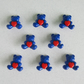8 Blue Bear and Heart Buttons