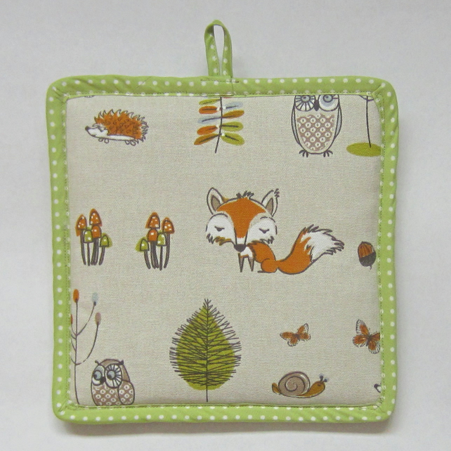 Woodland Life Padded Pot Holder