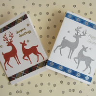 2 Christmas Stag and Deer Cards