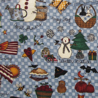 Seasons and Holidays Fat Quarter