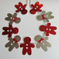 Red and Silver Christmas Gingerbread Men Bunting