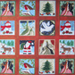 24 Christmas Fabric Square Panels