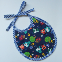 First Size Blue Woodland Animals Babies Bib