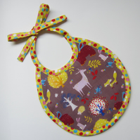First Size Woodland Animals Babies Bib