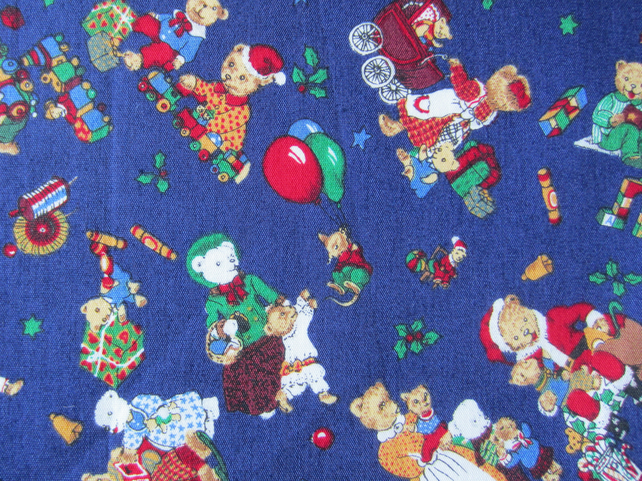 Christmas Teddy Bear Fat Quarter