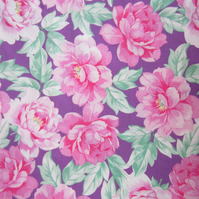 1 Metre of Pink and Lilac Floral Fabric