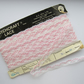 Vintage 1970 s Pink and White Shell Lace on Original Card