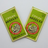 2 Packets of Vintage Organ Sewing Machine Needles