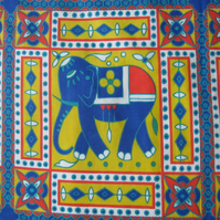 Elephant Panels Fabric Remnant
