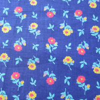1 Metre of Purple Floral Fabric